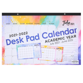 Retro Chic Collection, 2021-2022 Desk Pad Calendar, Academic Year, 17 x 11 Inches