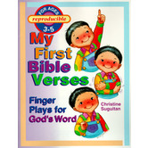 My First Bible Verses Finger Plays for God's Word Activity Book, Reproducible, 48 Pages, Grades PK-K