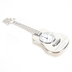 Lifelines, Guitar with Stand Desk Clock, Zinc Alloy Metal, Silver-tone, 1 1/2 x 4 inches