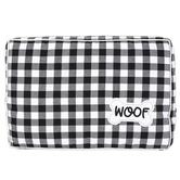 Buffalo Check Plush Dog Bed, Polyester, Black & White, 16 1/2 x 24 1/2 inches