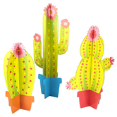 Brother Sister Design Studio, Cactus Chipboard Decor, 6 Pieces