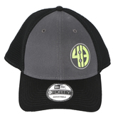 413 Sportswear, Mesh with Contrast Front Snapback Cap, Cotton/Polyester, Black and Charcoal, One Size Fits Most