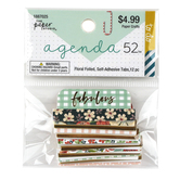 the Paper Studio, agenda 52 Floral Tabs, 1 Each of 12 Designs