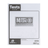 BJU Press, Math 1 Tests, 4th Edition, Paperback, Grade 1