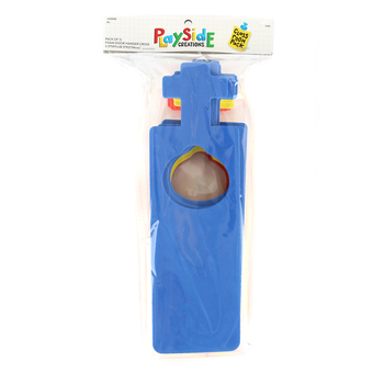 Playside Creations, Foam Door Hanger with Cross, 3.375 x 11 Inches, Assorted Colors, 12 Count