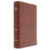 NIV Personal Size Large Print Bible, Genuine Buffalo Leather, Brown