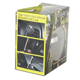 CTA, Inc., Colossians 2:7 Man of God Air Vent Cell Phone Holder, Black and Silver, 1 1/4 inches