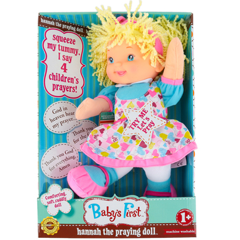 Goldberger, Baby's First, Hannah The Praying Doll, Ages 1 Year and Older, 13 inches