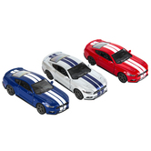 Master Toys and Novelties, Inc., 2015 Ford Mustang GT Pullback Toy Car, Red or Blue, 5 inches