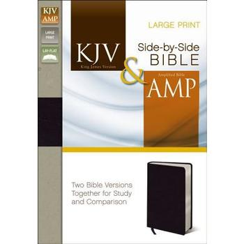 KJV AMP Side-by-Side Bible, Large Print, Bonded Leather, Black