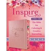 NLT Inspire Catholic Bible, Hardcover, Rose Gold