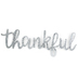 Thankful Word Art, Galvanized Metal, Silver, 24 x 8 3/4 inches