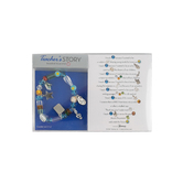 Roman, Inc., Teacher's Story Beaded Bracelet with Card, Glass, Multicolored, 7 to 7 1/2 inches