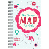 The Prayer Map for Girls: A Creative Journal, by Barbour Books, Spiral Bound