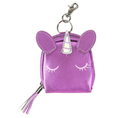 Stephen Joseph, Unicorn Shimmer Coin Purse, Polyurethane, Purple, 3 1/4 x 3 inches