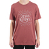 NOTW, Jesus Reigns, Men's Short Sleeve T-Shirt, Clay Heather, Small