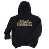 Kerusso, Ephesians 2:8-9 Amazing Grace, Women's Long Sleeve Hoodie, Black, Small