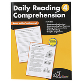 Chalkboard Publishing Workbooks, Daily Reading Comprehension, Paperback, 120 Pages, Grade 4