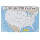 Carson-Dellosa, U.S. Map Jumbo Pad, 16 x 10 3/4 Inches, Blank, 30 Sheets