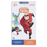 Carson Dellosa, My Take-Along Tablet Pixar 123s Activity Pad, Grades Pre-K-1, 64 Pages, Ages 3-7