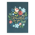 ThreeRoses, Flower and Butterfly Thank You Boxed Cards, 12 Cards with Envelopes