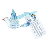 Enesco, Happiness Lives Here Bluebird Ornament, Acrylic, Blue, 4 x 4 x 3 inches