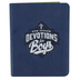 Christian Art Gifts, One Minute Devotions for Boys, Blue Lux Leather, Ages 8-12, 5.6 x 4.4 Inches