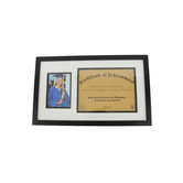 Green Tree Gallery, Graduation Diploma and Photo Frame, Black, 19 1/4 x 11 1/4 inches