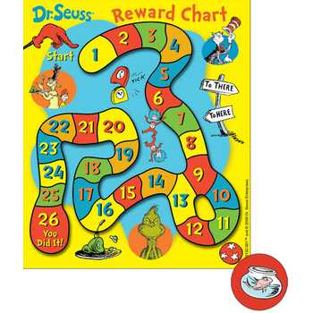 Eureka, Dr. Seuss Mini Reward Charts with Stickers, 5 x 6 Inches, Multi-Colored, 736 Pieces