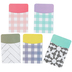 Farmhouse Lane Collection, Self-Adhesive Library Pockets, 3.5 x 5.25 Inches, 5 Designs, Pack of 25