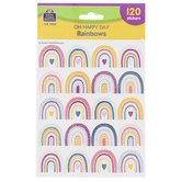 Teacher Created Resources, Oh Happy Day Rainbow Stickers, 120 Stickers