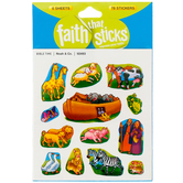 Tyndale, Noah and Company, Faith That Sticks, 6 Sheets, Silver Foil and Multi-Colored, 78 Stickers