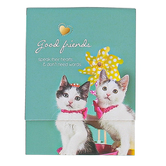 Universal Designs, Good Friends Speak Their Hearts Cat Notepad, 3 x 3 3/4 inches, 75 Sheets