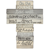 LCP Gifts, Jeremiah 29:11 On the Journey Standing Cross, MDF Wood, 4 1/4 x 5 3/4 inches