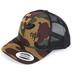 NOTW, Camo Snapback Adjustable Hat, Dark Green Camo and Black Mesh