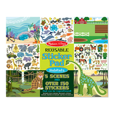 Melissa & Doug, Reusable Sticker Pad Animal Habitats, Ages 3 Years and Older, 155 Pieces
