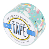 Unicorns and Flowers Art Project Tape, Assorted Colors, 1 7/8 inches x 10 yards, 1 Roll