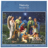 Crown Point Graphics, Nativity Scene Puzzle, 24 x 18 inches, 500 Pieces