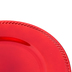 Red Brushed Metallic Plate Charger, Plastic, 13 inches