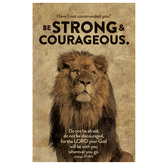 Salt & Light, Be Strong and Courageous Church Bulletins, 8 1/2 x 11 inches Flat, 100 Count