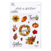 the Paper Studio, Autumn and Thanksgiving Stickers, 26 Stickers