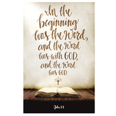 Salt & Light, In The Beginning Was The Word Church Bulletins, 8 1/2 x 11 inches Flat, 100 Count