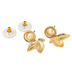 Mercy Adorned, Proverbs 2:7 Leaves with Pearl Dangle Earrings, Zinc Alloy, Gold