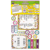 Teacher Created Resources, Confetti Calendar Bulletin Board Set, 84 Pieces