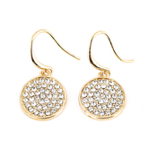 Mercy Adorned, Proverbs 1:5 Round CZ Dangle Earrings, Zinc Alloy, Gold