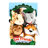 Melissa & Doug, Zoo Friends Hand Puppet Set, Ages 2 to 4 Years Old, 14 Inches, 4 Count