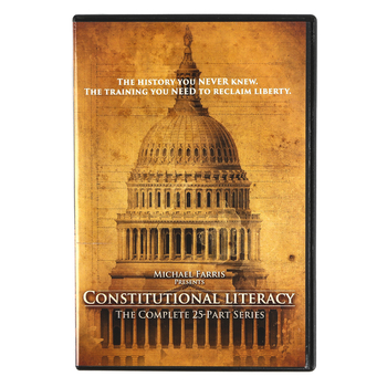 Constitutional Literacy DVD Set, 25-Part Series, 5 DVDs, by Michael Farris, Grades 9-12