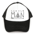 Tiny Trucker Co., Little Man Tiny Hat, Adjustable Hat, Black and White, Ages 2-5