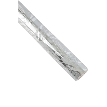 Brother Sister Design Studio, Silver Foil Gift Wrap Roll, 50 Feet, 29 3/4 Inches Long