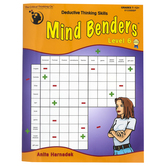 Critical Thinking Company, Mind Benders Level 6 Book, Reproducible, 64 Pages, Grades 7-12 and Adult